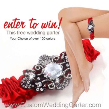 Monthly Giveaway – Free Custom Wedding Garter -January 2016