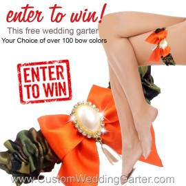 Monthly Giveaway – Free Custom Camouflage Wedding Garter-February 2016