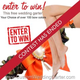 Monthly Giveaway – Free Custom Camouflage Wedding Garter-February 2016