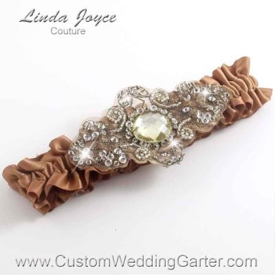 "Chipmunk Antique Jewel Beaded Wedding Garter ""Bijou 01"" Antique"