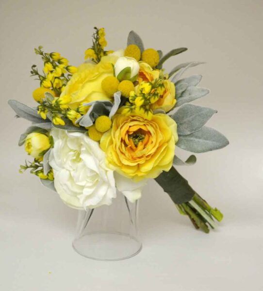 BlueOrchidCreations-Wedding Bouquet-Sunglow-Yellow--Custom-Wedding-Garters-Bridal-Garters-Prom-Garters-Linda-Joyce-Couture-Girly-Girl-Garters-Blog