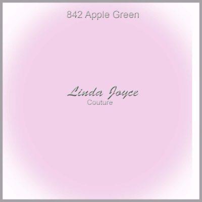 "842 Apple Green Satin Rhinestone Wedding Garter / Satin Bridal Garter / Satin Prom Garter ""Lorine-01-Silver"""