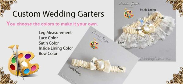 Custom Wedding Garters, Bridal Garters, Prom Garters. Custom Garters