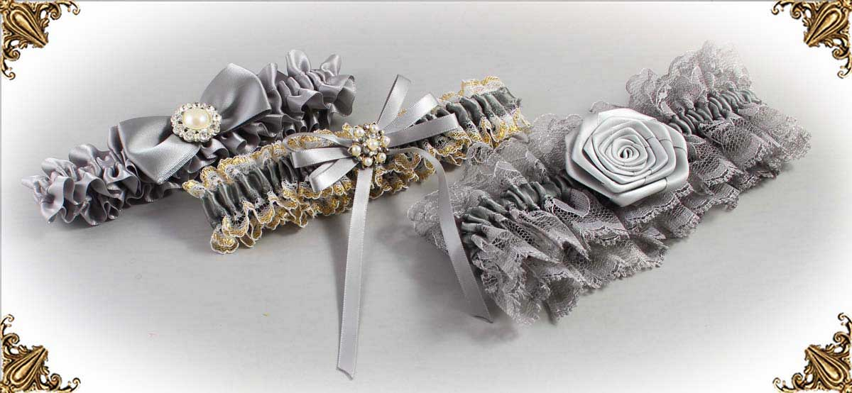 Silver Garters for Wedding or Prom