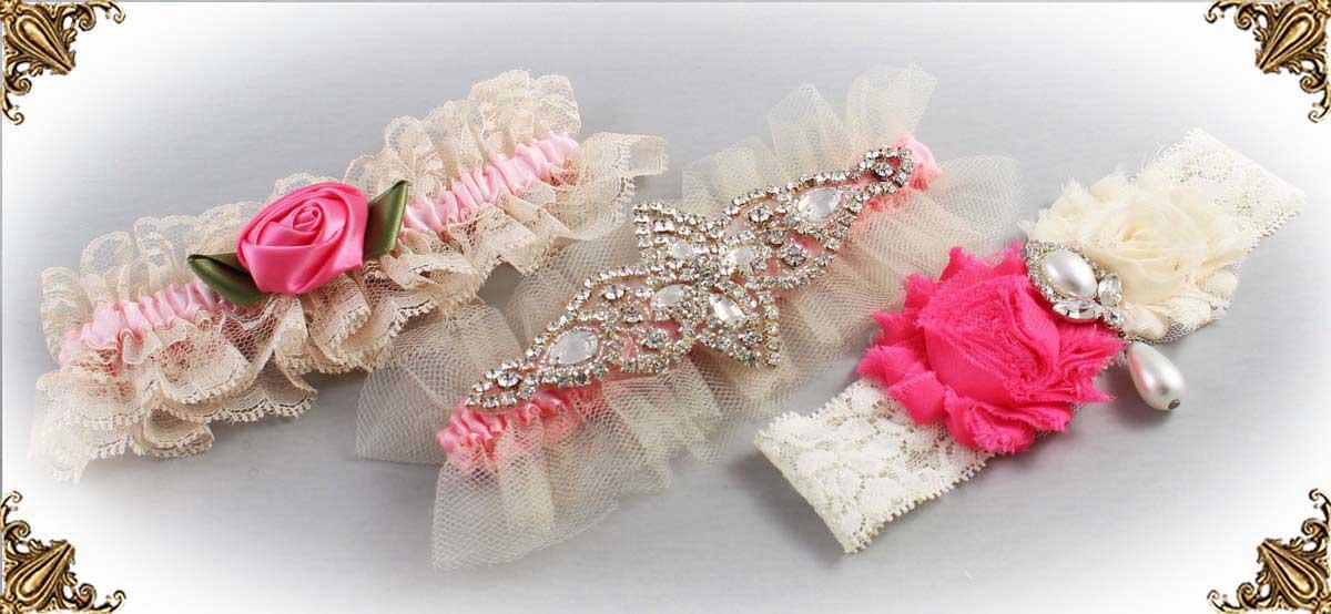 Ivory-and-Pink-Wedding-Garters-Bridal-Garter-Prom-Garters-Custom-Wedding-Garter-Linda-Joyce-couture