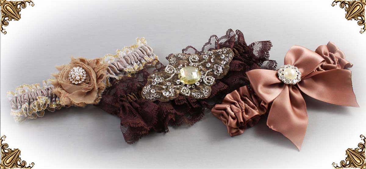 Brown-Wedding-Garters-Bridal-Garter-Prom-Garters-Custom-Wedding-Garter-Linda-Joyce-couture
