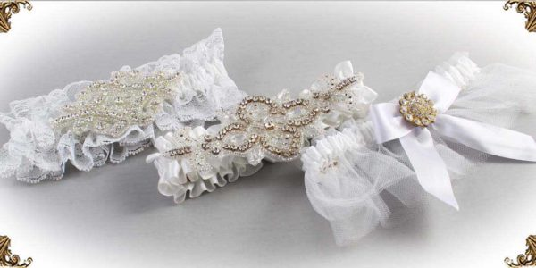 White Wedding Garters 112-Bridal-Garter-Prom-Garters-Custom-Wedding-Garter-Linda-Joyce-couture
