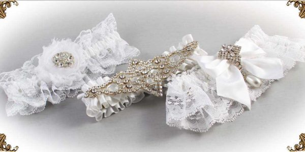 White-Wedding-Garters-Bridal-Garter-Prom-Garters-Custom-Wedding-Garter-Linda-Joyce-couture