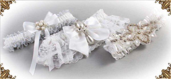White-Wedding-Garters-Bridal-Garter-Prom-Garters-Custom-Wedding-Garter-Linda-Joyce-couture