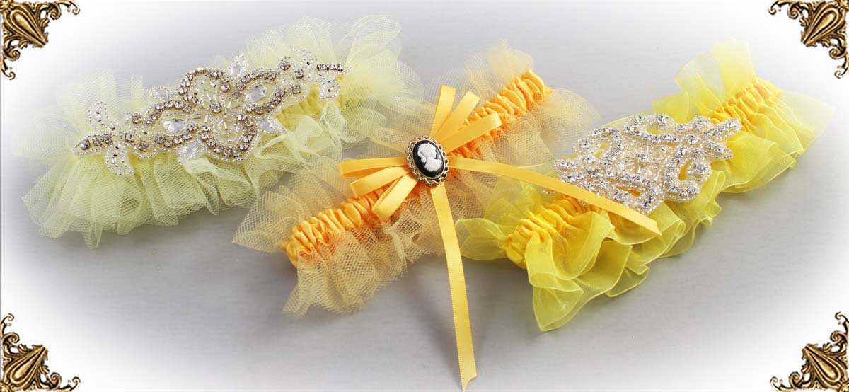 Yellow-Wedding-Garters-Bridal-Garter-Prom-Garters-Custom-Wedding-Garter-Linda-Joyce-couture