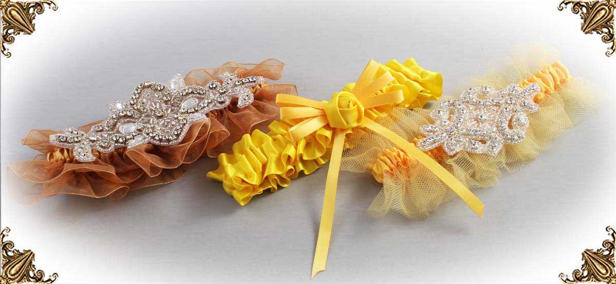 Yellow-Wedding-Garters-Bridal-Garter-Prom-Garters-Custom-Wedding-Garter-Linda-Joyce-couture