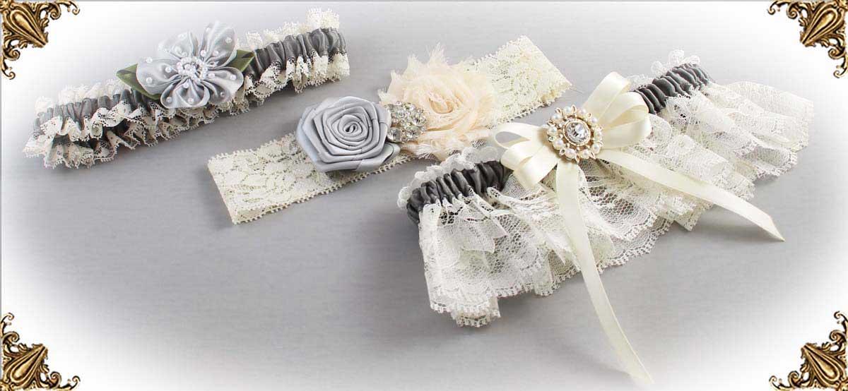 Ivory-Gray-Wedding-Garters-Bridal-Garter-Prom-Garters-Custom-Wedding-Garter-Linda-Joyce-couture