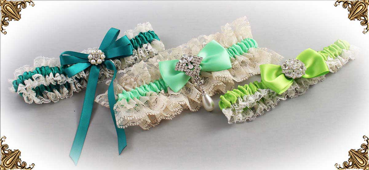 Ivory-Green-Wedding-Garters-Bridal-Garter-Prom-Garters-Custom-Wedding-Garter-Linda-Joyce-couture