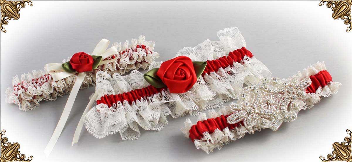 Ivory-Red-Wedding-Garters-Bridal-Garter-Prom-Garters-Custom-Wedding-Garter-Linda-Joyce-couture