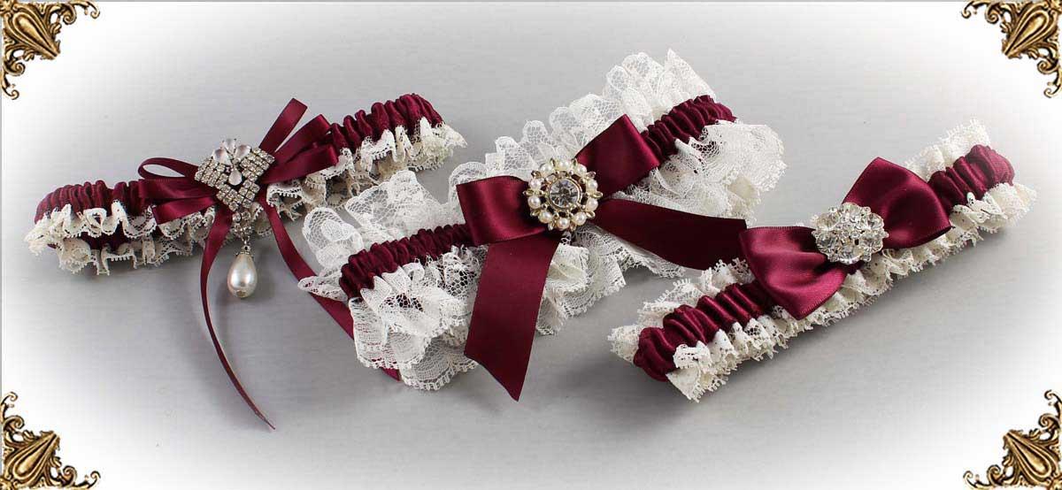 Ivory-Wine-Wedding-Garters-Bridal-Garter-Prom-Garters-Custom-Wedding-Garter-Linda-Joyce-couture