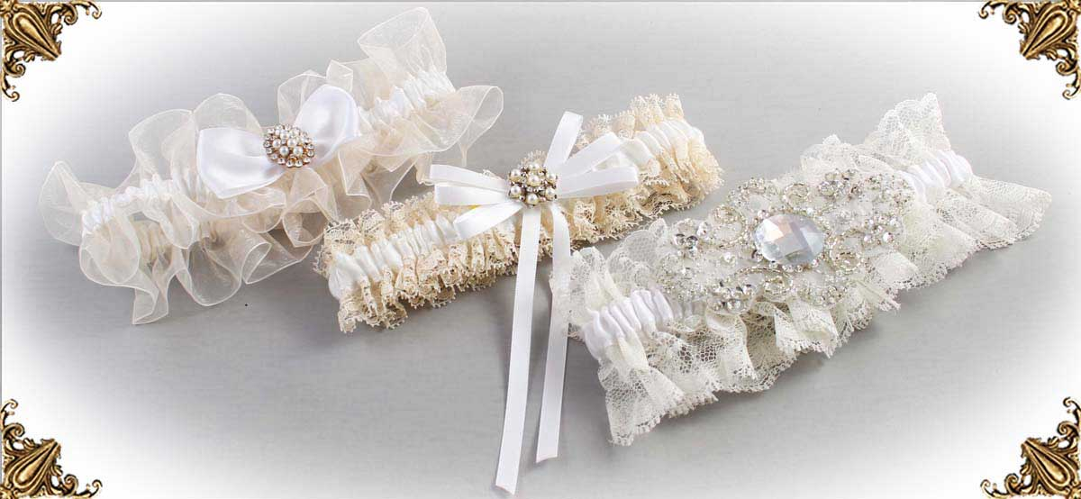 Ivory-White-Wedding-Garters-Bridal-Garter-Prom-Garters-Custom-Wedding-Garter-Linda-Joyce-couture