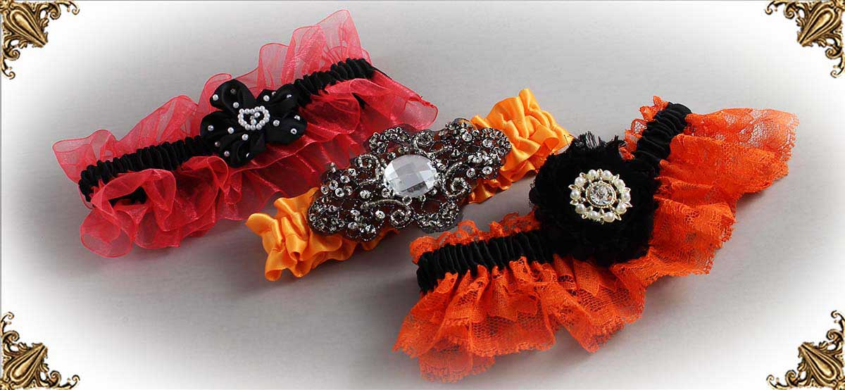 Orange-and-Black-Wedding-Garters-Bridal-Garters-Prom-Garters-Custom-Wedding-Garters-Linda-Joyce-Couture