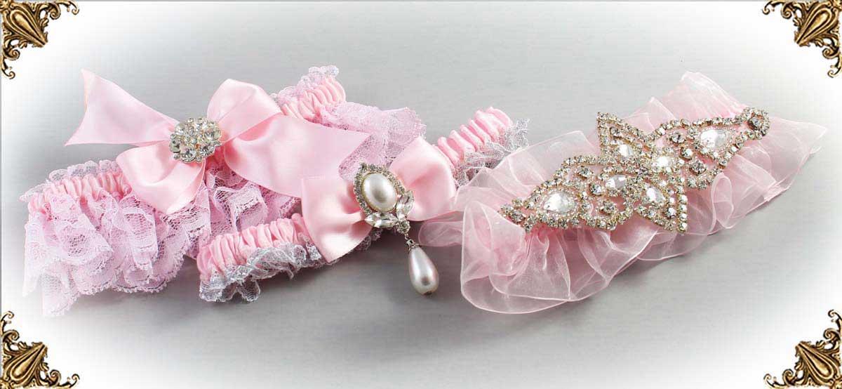 145-Light-Pink-Wedding-Garter