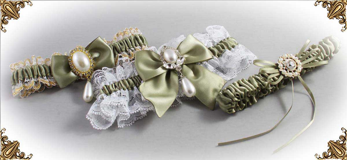Soft-Pine-Green-Wedding-Garters