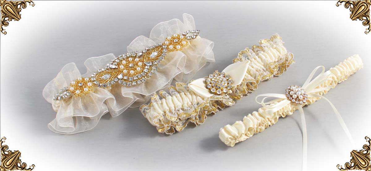 Solid-Ivory-Wedding-Garters-Bridal-Garters-Prom-Garters-Custom-Wedding-Garter-Linda-Joyce-Couture-Luxury-Bespoke