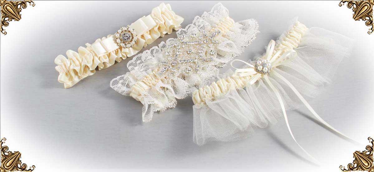 Ivory Wedding Garters 871-Bridal-Garters-Prom-Garters-Custom-Wedding-Garter-Linda-Joyce-Couture-Luxury-Bespoke