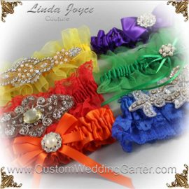 A Wedding Garter in a Rainbow of Colors
