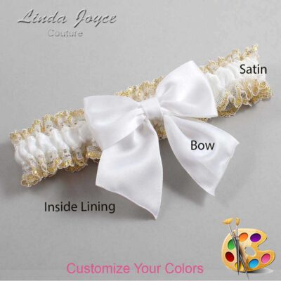 Couture Garters / Custom Wedding Garter / Customizable Wedding Garters / Personalized Wedding Garters / Kimberly #04-B01-00 / Wedding Garters / Bridal Garter / Prom Garter / Linda Joyce Couture