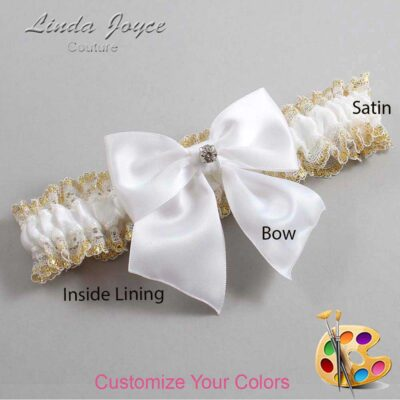 Couture Garters / Custom Wedding Garter / Customizable Wedding Garters / Personalized Wedding Garters / Pamela #04-B01-M04 / Wedding Garters / Bridal Garter / Prom Garter / Linda Joyce Couture