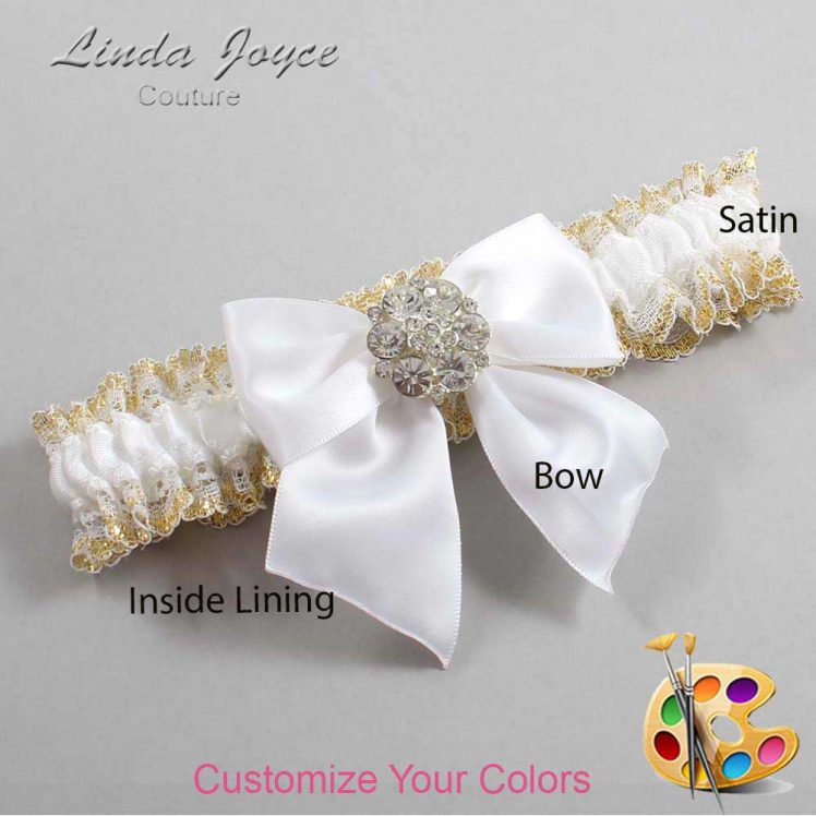 Couture Garters / Custom Wedding Garter / Customizable Wedding Garters / Personalized Wedding Garters / Elizabeth #04-B01-M11 / Wedding Garters / Bridal Garter / Prom Garter / Linda Joyce Couture