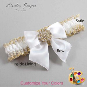 Couture Garters / Custom Wedding Garter / Customizable Wedding Garters / Personalized Wedding Garters / Penny #04-B01-M12 / Wedding Garters / Bridal Garter / Prom Garter / Linda Joyce Couture