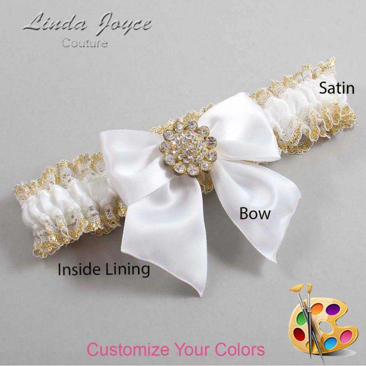 Couture Garters / Custom Wedding Garter / Customizable Wedding Garters / Personalized Wedding Garters / Penny #04-B01-M12 / Wedding Garters / Bridal Garter / Prom Garter / Linda Joyce Couture