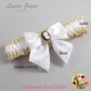 Couture Garters / Custom Wedding Garter / Customizable Wedding Garters / Personalized Wedding Garters / Amy #04-B01-M15 / Wedding Garters / Bridal Garter / Prom Garter / Linda Joyce Couture