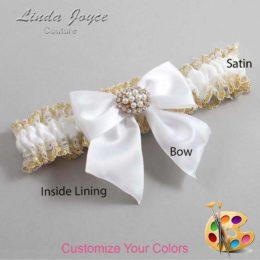 Customizable Wedding Garter / Cynthia #04-B01-M16-Gold