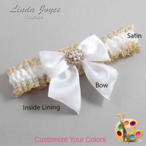 Couture Garters / Custom Wedding Garter / Customizable Wedding Garters / Personalized Wedding Garters / Cynthia #04-B01-M16 / Wedding Garters / Bridal Garter / Prom Garter / Linda Joyce Couture