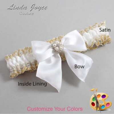 Couture Garters / Custom Wedding Garter / Customizable Wedding Garters / Personalized Wedding Garters / Kourtney #04-B01-M20 / Wedding Garters / Bridal Garter / Prom Garter / Linda Joyce Couture