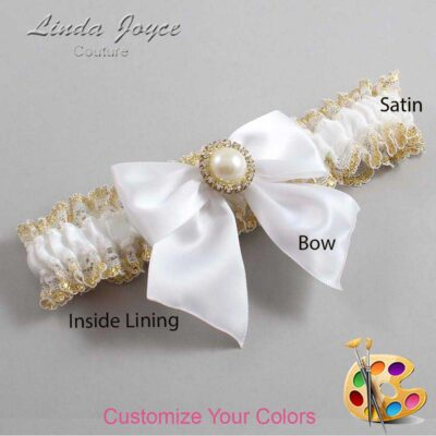 Customizable Wedding Garter / Paige #04-B01-M21-Gold