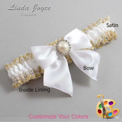 Couture Garters / Custom Wedding Garter / Customizable Wedding Garters / Personalized Wedding Garters / Paige #04-B01-M22 / Wedding Garters / Bridal Garter / Prom Garter / Linda Joyce Couture