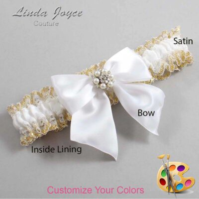 Couture Garters / Custom Wedding Garter / Customizable Wedding Garters / Personalized Wedding Garters / Naomi #04-B01-M23 / Wedding Garters / Bridal Garter / Prom Garter / Linda Joyce Couture