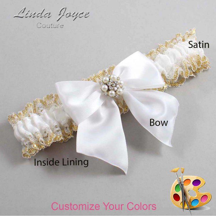 Couture Garters / Custom Wedding Garter / Customizable Wedding Garters / Personalized Wedding Garters / Naomi #04-B01-M23 / Wedding Garters / Bridal Garter / Prom Garter / Linda Joyce Couture