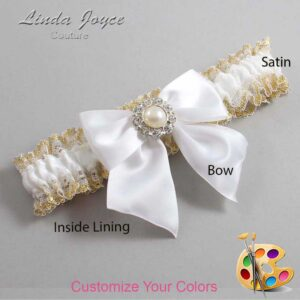 Couture Garters / Custom Wedding Garter / Customizable Wedding Garters / Personalized Wedding Garters / Amanda #04-B01-M24 / Wedding Garters / Bridal Garter / Prom Garter / Linda Joyce Couture