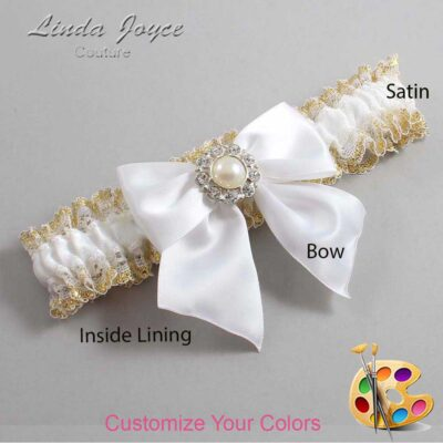 Customizable Wedding Garter / Amanda #04-B01-M24-Silver