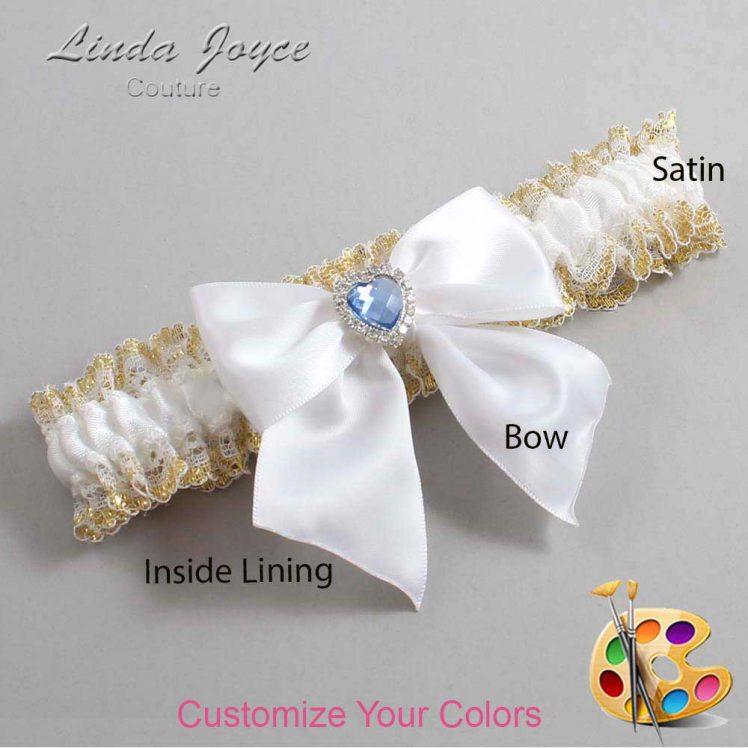 Couture Garters / Custom Wedding Garter / Customizable Wedding Garters / Personalized Wedding Garters / Kittie #04-B01-M25 / Wedding Garters / Bridal Garter / Prom Garter / Linda Joyce Couture