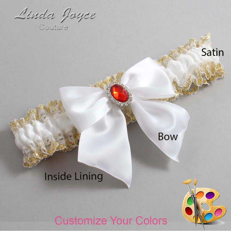 Couture Garters / Custom Wedding Garter / Customizable Wedding Garters / Personalized Wedding Garters / Danita #04-B01-M26 / Wedding Garters / Bridal Garter / Prom Garter / Linda Joyce Couture