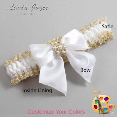 Couture Garters / Custom Wedding Garter / Customizable Wedding Garters / Personalized Wedding Garters / Larissa #04-B01-M27 / Wedding Garters / Bridal Garter / Prom Garter / Linda Joyce Couture
