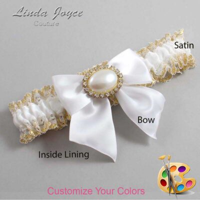 Couture Garters / Custom Wedding Garter / Customizable Wedding Garters / Personalized Wedding Garters / Nicole #04-B01-M28 / Wedding Garters / Bridal Garter / Prom Garter / Linda Joyce Couture