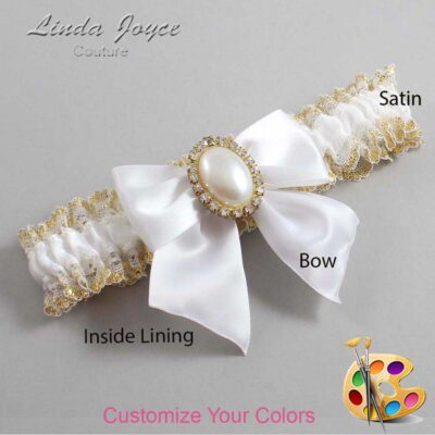 Couture Garters / Custom Wedding Garter / Customizable Wedding Garters / Personalized Wedding Garters / Maggie #04-B01-M29 / Wedding Garters / Bridal Garter / Prom Garter / Linda Joyce Couture