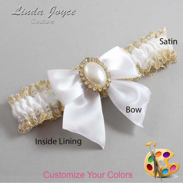 Couture Garters / Custom Wedding Garter / Customizable Wedding Garters / Personalized Wedding Garters / Maggie #04-B01-M29 / Wedding Garters / Bridal Garter / Prom Garter / Linda Joyce Couture