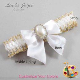 Customizable Wedding Garter / Maggie #04-B01-M31-Silver