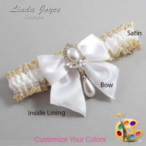 Couture Garters / Custom Wedding Garter / Customizable Wedding Garters / Personalized Wedding Garters / Jessica #04-B01-M32 / Wedding Garters / Bridal Garter / Prom Garter / Linda Joyce Couture