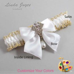 Customizable Wedding Garter / Madeline #04-B01-M33-Silver